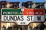 Peu de signes de Portugal Street, Toronto, Ontario, Canada