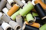 Wiederverwertbare zusammengesetzten Textile Fabrikation Abteilung Fabrik, Rollen mit überschüssigen beschichteten thread