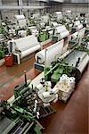 Vue d'ensemble de l'usine de tissage, occupe une place