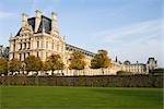 France, Paris, Musée du Louvre, vu depuis le Jardin des Tuileries