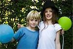 Childhood friends, portrait