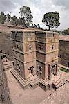 The rock-hewn church of Bet Giyorgis (St. George), in Lalibela, UNESCO World Heritage Site, Ethiopia, Africa