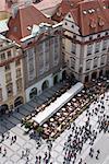 Vue depuis la tour de Old Town Square, Old Town, Prague, République tchèque, Europe