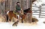 Cowboy, Shell, Big Horn County, Wyoming, USA