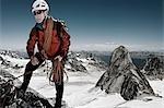 Mountain Climber, Bugaboos, British Columbia, Canada