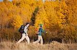 Couple Hiking near Deschutes River, Oregon, USA