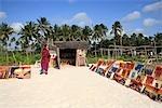 Tanzania, Zanzibar (Unguja island), Pwani Mchangani beach, paint store.