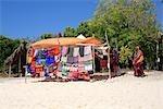 Tanzania, Zanzibar archipelago, Kwale island, shop on the beach.