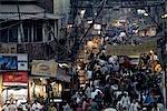 India, New Delhi, street near the Jama Masjid.