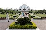 India, New Delhi, lotus temple.