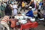 India, New Delhi, market near the Jama Masjid.
