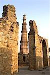 India, near New Delhi, Qutab Minar.