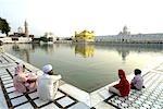 India, Punjab, Amritsar, the Golden Temple, pool of nectar.