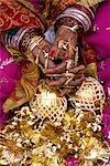 India, Punjab, Tarn Taran, tattos of a young sikh bride.