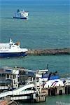 Angleterre, Kent, port de Douvres.