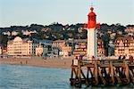 France, Normandie, Trouville sur Mer, phare