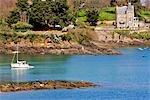 France, Bretagne, Dinard, le long de la rivière de la Rance
