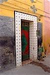 Morocco, Oujda, painted door