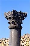 Morocco, Volubilis, column