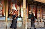 China, Gansu, Xiahe, Tibetan monastery of Labrang, pilgrims