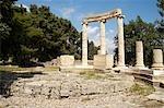Greece, Peloponnese, Olympia, exedra of Herodes Atticus