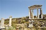 Greece, Cyclades, Delos, temple of Apollo