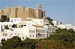 Grèce, Dodécanèse, Patmos, le monastère de Saint-Jean le théologien