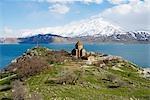 Île d'Akdamar, lac de Van, la Turquie, l'Église arménienne