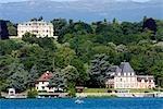 Switzerland, Geneva, boat on the lake Geneva