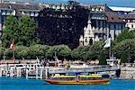 Suisse, Genève, promenade en bateau sur le lac Léman