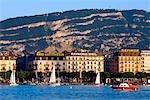 Switzerland, Geneva, sailing boat