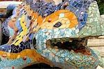 Spain, Catalonia, Barcelona, Guell park, the salamander