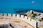 Grèce, Crète, l'île de Spinalonga, forteresse