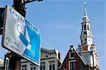 Les pays-bas, la Hollande-septentrionale, Amsterdam, Zuidekerk, caméra de surveillance