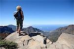 Espagne, Iles Canaries, Tenerife, randonneur