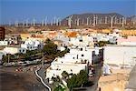 Spanien, Kanarische Inseln, Teneriffa, Poris de Abona und Wind-Maschinen