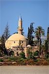 Cyprus, Larnaca, Hala Sultan Tekke and the salt lake