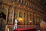Cyprus, Larnaca, woman inside Agios Lazaros church