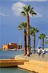 Chypre, Paphos, le port et le château de Paphos