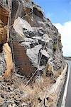 Espagne, Iles Canaries, la Gomera, au filet de roches
