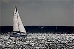La Hollande septentrionale, Marken, bateau à voile