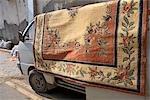 Cyprus, Nicosia, carpet on a van