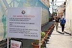 Cyprus, Nicosia, city split into two entities, at the border