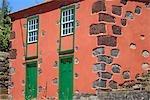 Maison traditionnelle de La Palma, Tiajarafe, Espagne, Iles Canaries,