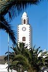 Espagne, Iles Canaries, Lanzarote, San Bartolomé, église