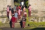 Indonesia, Bali, temple of  Pura Ulun Danu Bratan on the Bratan lake, ceremony