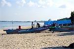 Indonesia, Bali, beach of Jimbaran, fisherman