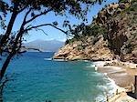 France, Corsica, beach of Piana