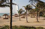 Burj Al Arab Hotel sur la plage de Jumeirah, Dubai, Émirats Arabes Unis, Moyen-Orient