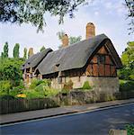 Cottage d'Anne Hathaway, Shottery, Stratford-upon-Avon, Warwickshire, Angleterre, Royaume-Uni, Europe